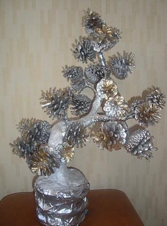 Как сделать дерево из шишек