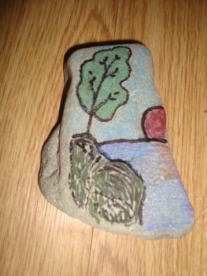 Рисунок на камне - скала