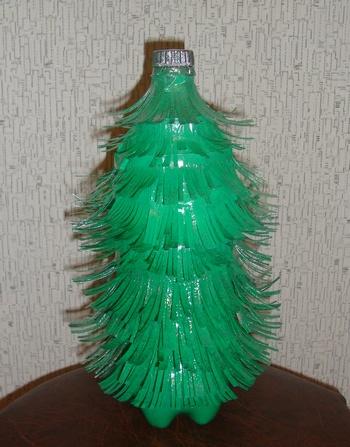 Елки из пластиковых бутылок своими руками фото