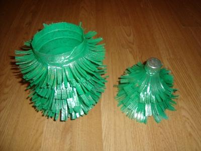 Как сделать ёлку из пластиковой бутылДеревянное дорожКоробочка