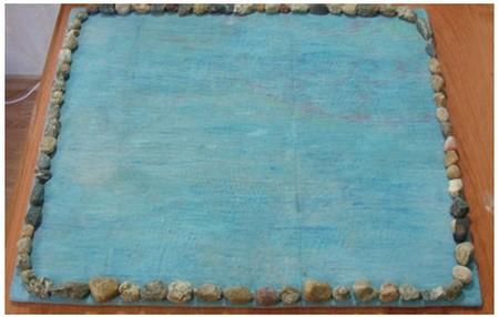 Рамка из камней для картины