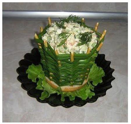 Корзинка для салата из зеленого лука
