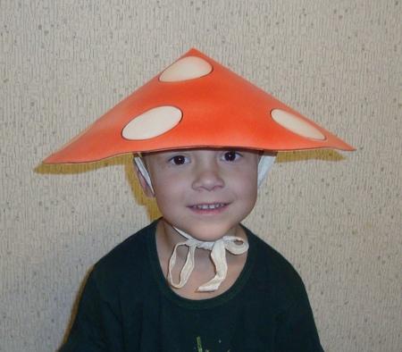 Шляпа гриб-мухомор