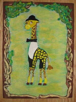 Жираф из соленого теста