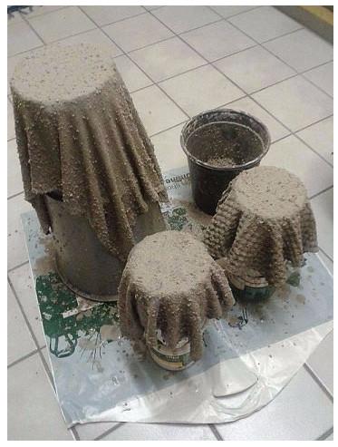Кашпо для сада своими руками из цемента