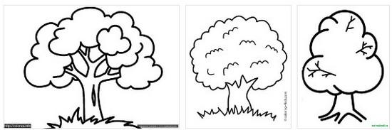 Деревья с листьями