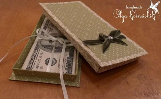 Упаковать подарок деньгами 10