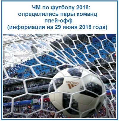 ЧМ по футболу 2018 определились пары команд плей-офф информация на 29 июня 2018 года