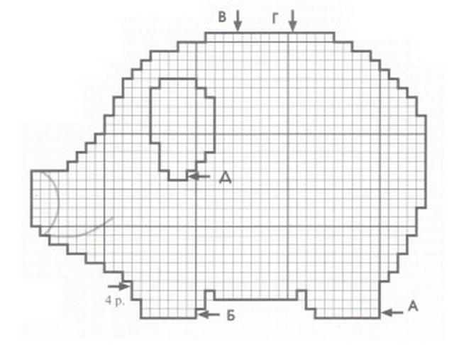 Схема прихватки свинки
