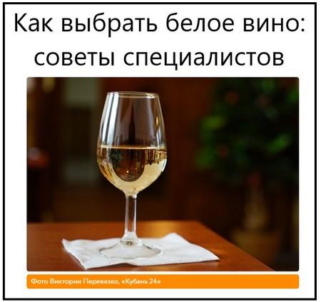 Как выбрать белое вино советы специалистов