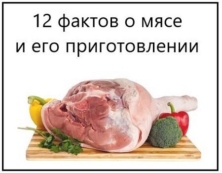 12 фактов о мясе и его приготовлении