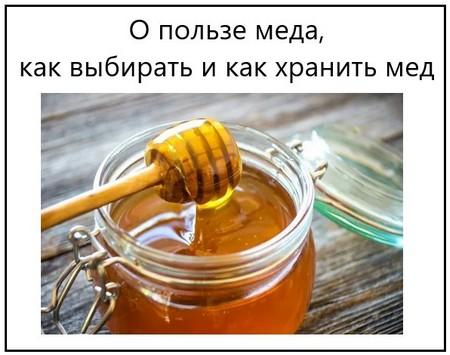 О пользе меда, как выбирать и как хранить мед