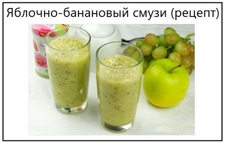 Яблочно-банановый смузи (рецепт)